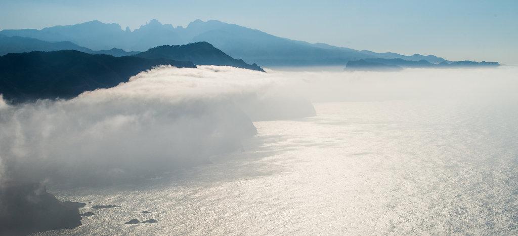 Cloud layer above Madeira